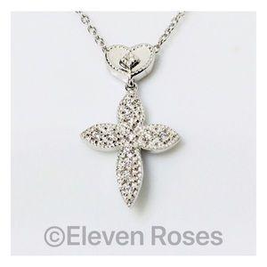 Charriol 18k Gold Diamond Cross Pendant Necklace